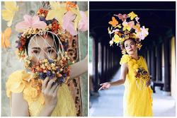 Nửa thập kỷ mới xuất hiện tại show event, Mỹ Lệ đeo khẩu trang hoa che nửa mặt
