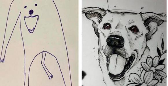 Bức tranh xấu điên đảo đánh bại mọi đối thủ, giật giải quán quân cuộc thi vẽ chó-1