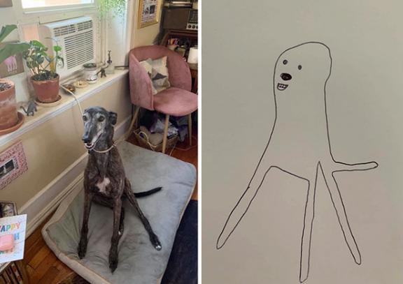 Bức tranh xấu điên đảo đánh bại mọi đối thủ, giật giải quán quân cuộc thi vẽ chó-3