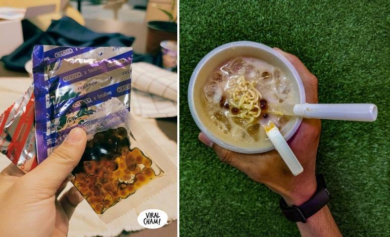Món mì tôm trà sữa trân châu ở Malaysia-2