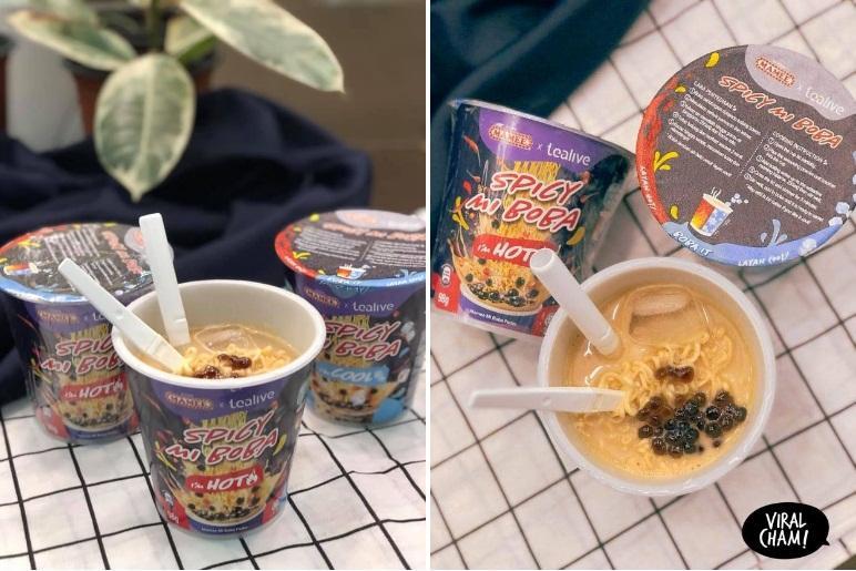 Món mì tôm trà sữa trân châu ở Malaysia-3