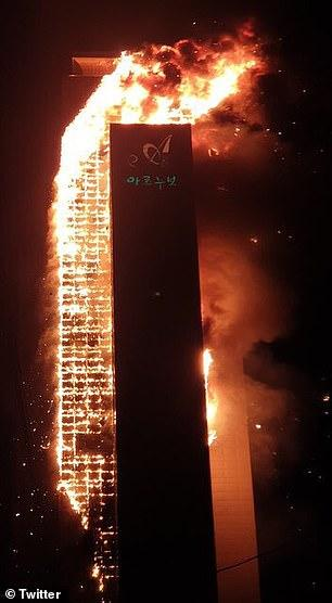 Tòa nhà 33 tầng bốc cháy ngùn ngụt suốt đêm ở Hàn Quốc, 88 người nhập viện-8