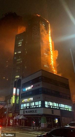 Tòa nhà 33 tầng bốc cháy ngùn ngụt suốt đêm ở Hàn Quốc, 88 người nhập viện-7