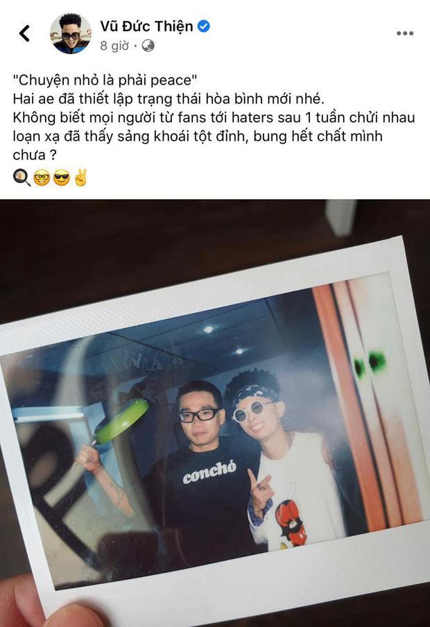 Rhymastic đăng hình thiết lập trạng thái hòa bình mới với Wowy sau gần 1 tuần căng thẳng vì drama Rap Việt-2