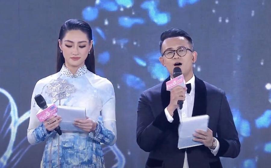 Lương Thùy Linh liên tục nói vấp khi làm MC bán kết Hoa hậu Việt Nam 2020-3