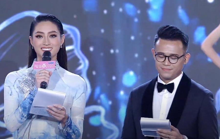 Lương Thùy Linh liên tục nói vấp khi làm MC bán kết Hoa hậu Việt Nam 2020-4