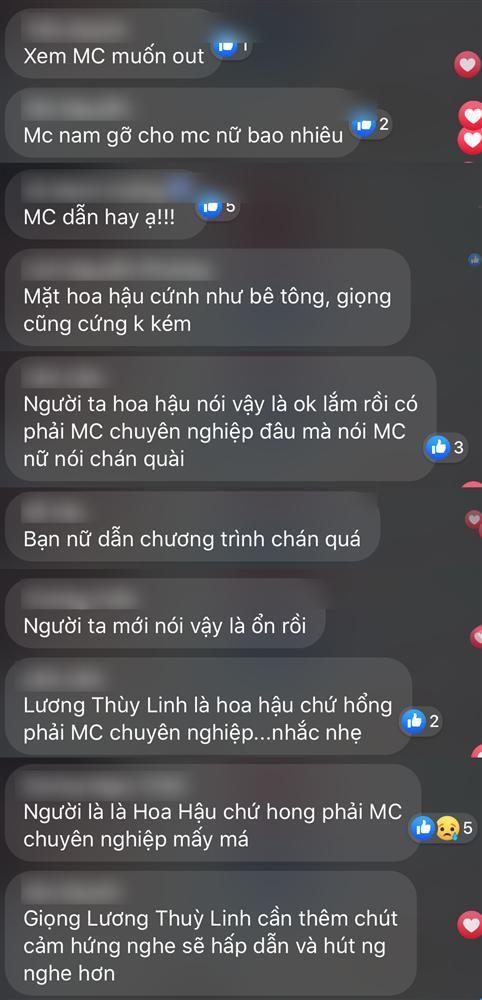 Lương Thùy Linh liên tục nói vấp khi làm MC bán kết Hoa hậu Việt Nam 2020-6