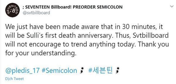 Fan Kpop nhắc nhau tưởng nhớ 1 năm ngày mất Sulli-2