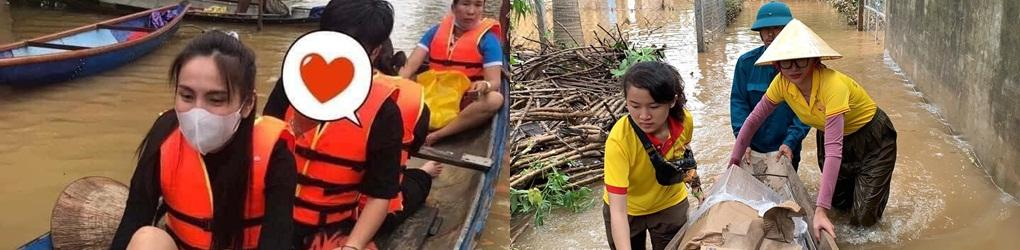 Sao Việt cứu trợ miền Trung lũ lụt