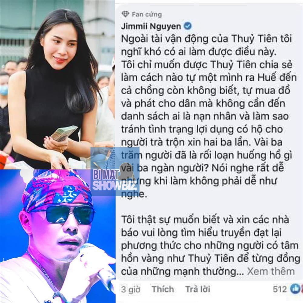 Jimmii Nguyễn bị nghi cà khịa Thủy Tiên khi cứu trợ lũ lụt miền Trung-3