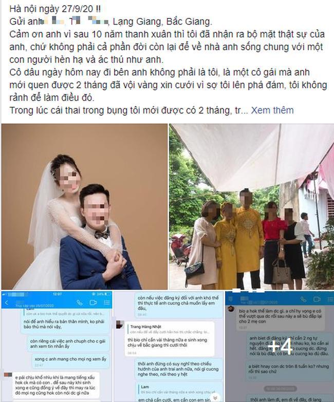 Yêu 10 năm, mang bầu vẫn bị bạn trai ruồng bỏ đi cưới người mới quen 2 tháng-1
