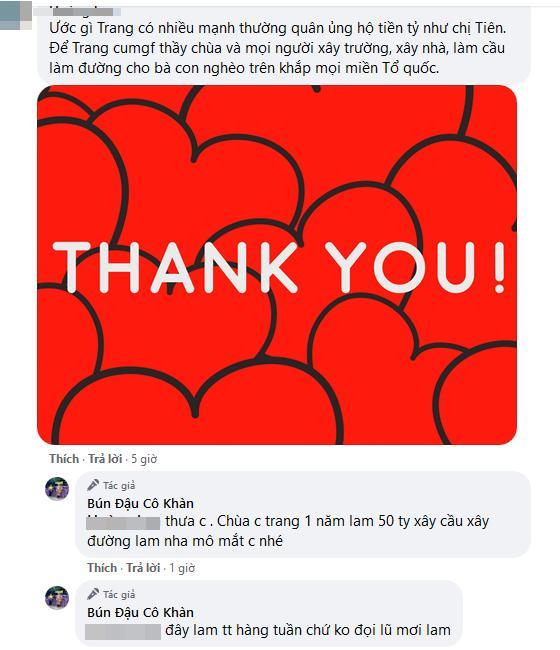 Phản ứng của Trang Trần khi bị so sánh làm từ thiện với Thủy Tiên-3