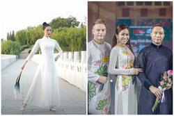 Thí sinh Hoa hậu Trái Đất của Trung Quốc mặc áo dài Việt Nam dự thi gây tranh cãi