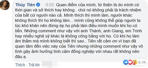 Phản ứng của Trang Trần khi bị so sánh làm từ thiện với Thủy Tiên-5