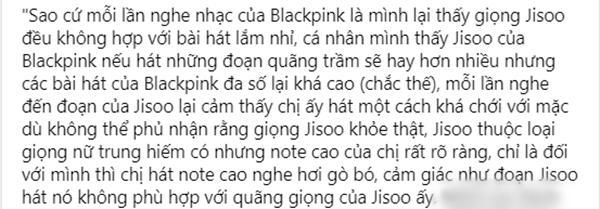 4 năm trôi qua, Jisoo vẫn bị chê giọng ngang phè chẳng liên quan tới BLACKPINK-2