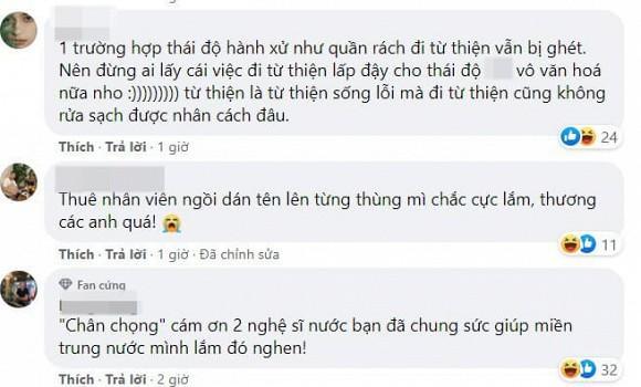 Nguyễn Trần Trung Quân - Denis Đặng gây tranh cãi khi treo băng rôn, in tên lên quà từ thiện-6