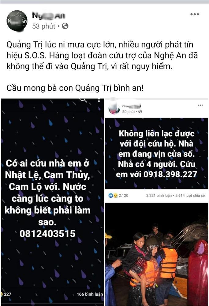 Nửa đêm, người dân Quảng Trị đồng loạt lên mạng cầu cứu vì nước lũ lên nhanh-2