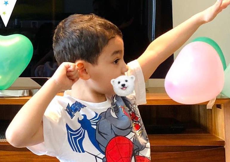 Quý tử lai nhà Thu Minh mới 5 tuổi nhưng cực ga lăng-11