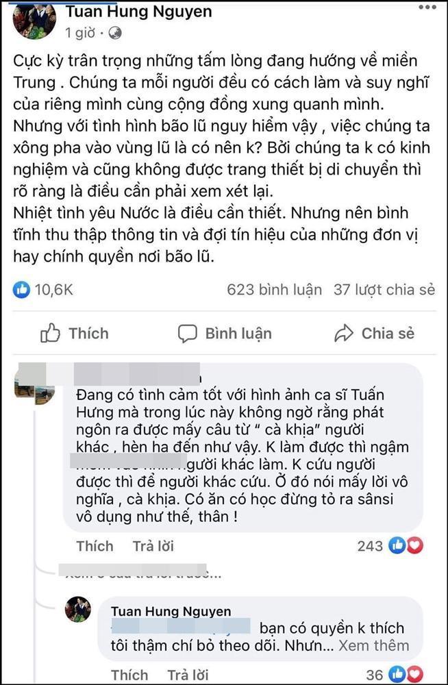Bị nghi cà khịa Thủy Tiên cứu trợ miền Trung, Tuấn Hưng đăng clip nói rõ-2
