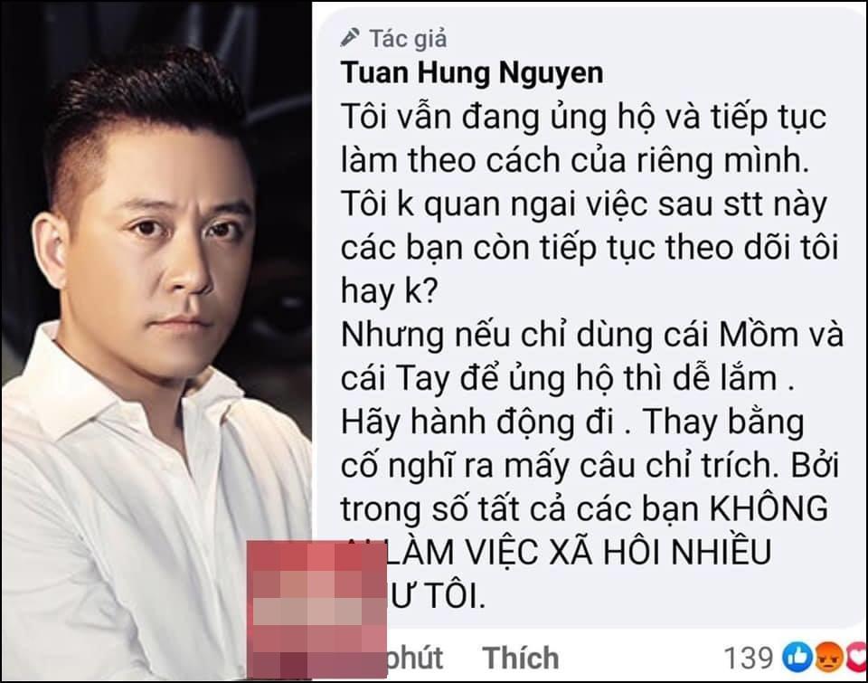 Bị nghi cà khịa Thủy Tiên cứu trợ miền Trung, Tuấn Hưng đăng clip nói rõ-3