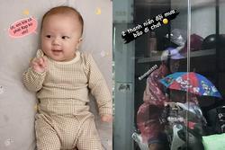Quỳnh Anh kể bé Ú bị nhận nhầm là con gái khi đi tiêm phòng, 'tố' Duy Mạnh đội mưa bão đi chơi