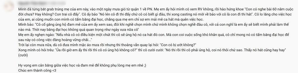 Xúc động mẹ thí sinh Lor chạy xe ôm công nghệ, tự hào khoe con thi Rap Việt-2