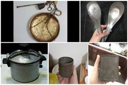 Nhìn những món đồ dùng gia đình xưa cũ, mũi bỗng cay cay nhớ về tuổi thơ