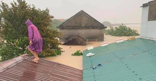 Hàng loạt ngôi nhà sắp bị nuốt cả phần mái trong cơn đại hồng thủy ở Quảng Bình-7