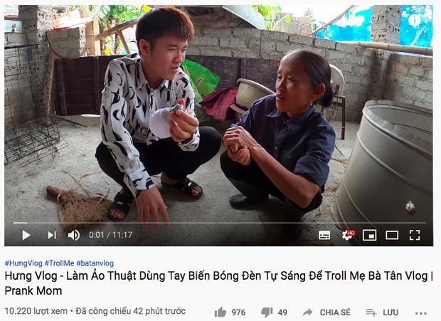 Vừa hứa làm clip nghiêm túc, Hưng Vlog lại bị chỉ trích khi gian dối mẹ già-3
