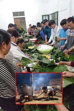 Bà con trắng đêm nấu bánh chưng cứu trợ người dân vùng lũ miền Trung