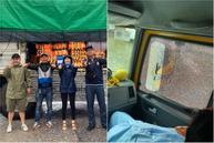 Xe từ thiện của Hòa Minzy bị người dân ném đá vỡ kính