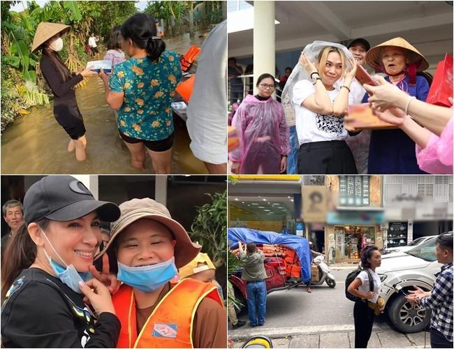 Xe từ thiện của Hòa Minzy bị người dân ném đá vỡ kính-1