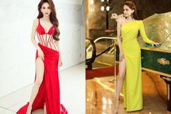 Mỹ nhân Việt vất vả che chắn vì váy xẻ cao 'ngút ngàn'