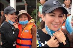 Bị chỉ trích cứu trợ lũ lụt mà cười tươi như hoa, Phi Nhung nói gì?