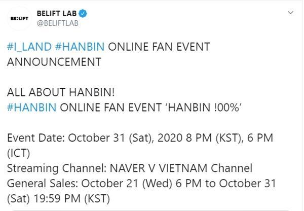 BELIFT LAB chơi lớn, tổ chức hẳn fanmeeting online cho trainee người Việt Hanbin-2