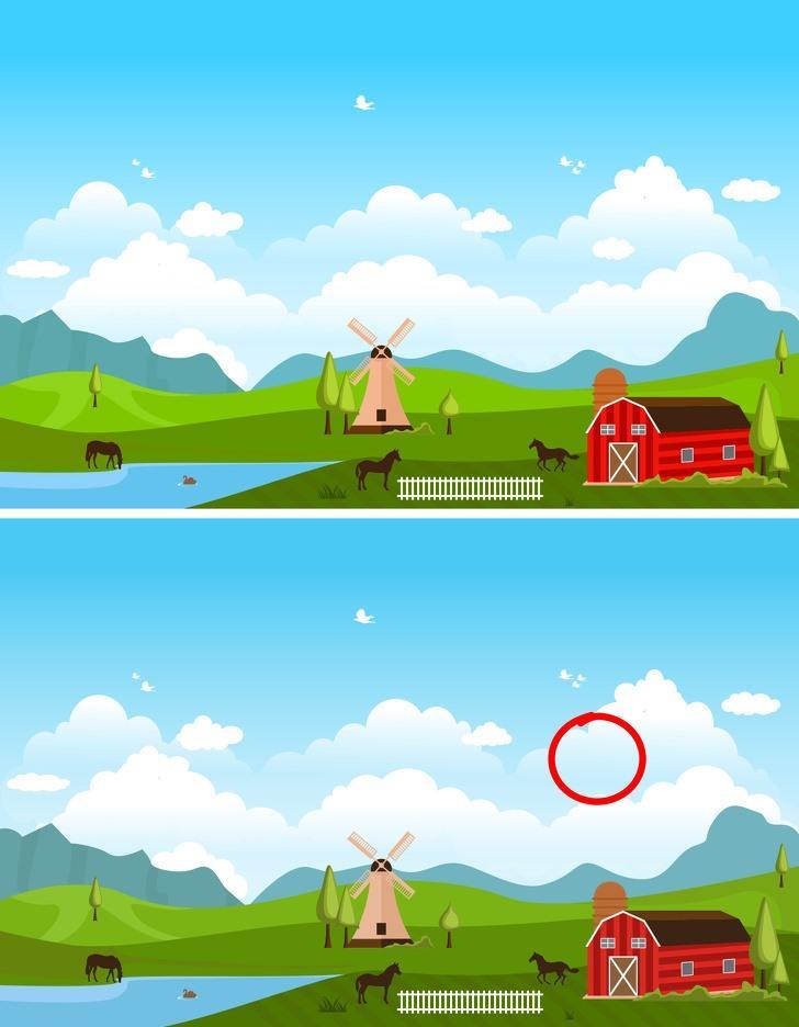 Mỗi hình có 1 điểm khác biệt, nếu bạn tìm ra trong vòng 5 giây, bạn có khả năng là thiên tài đó-7