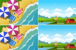 Mỗi hình có 1 điểm khác biệt, nếu bạn tìm ra trong vòng 5 giây, bạn có khả năng là thiên tài đó