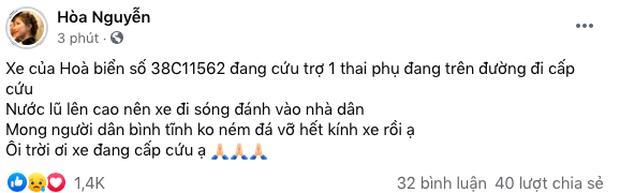 Hòa Minzy gặp sự cố trên đường hỗ trợ sản phụ đến bệnh viện giữa vùng lũ, đại diện lên tiếng nói rõ thực hư-3