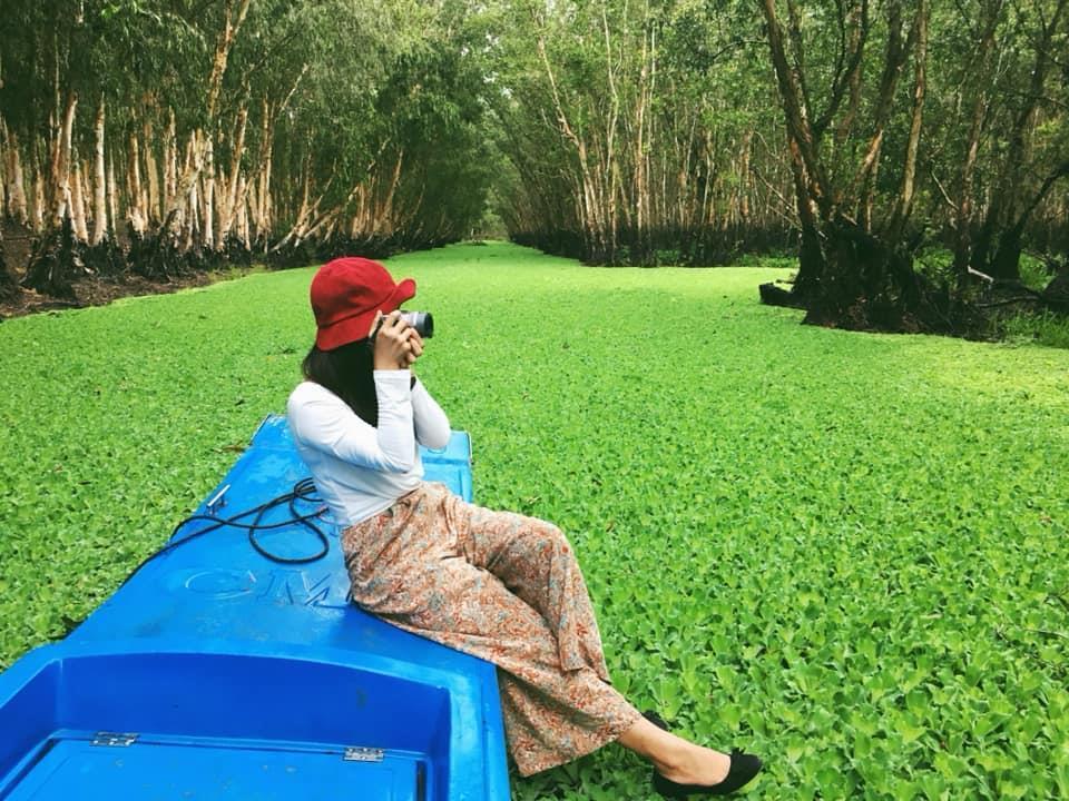 Chìm đắm trong màu xanh mê hoặc của rừng tràm Trà Sư mùa nước nổi-4