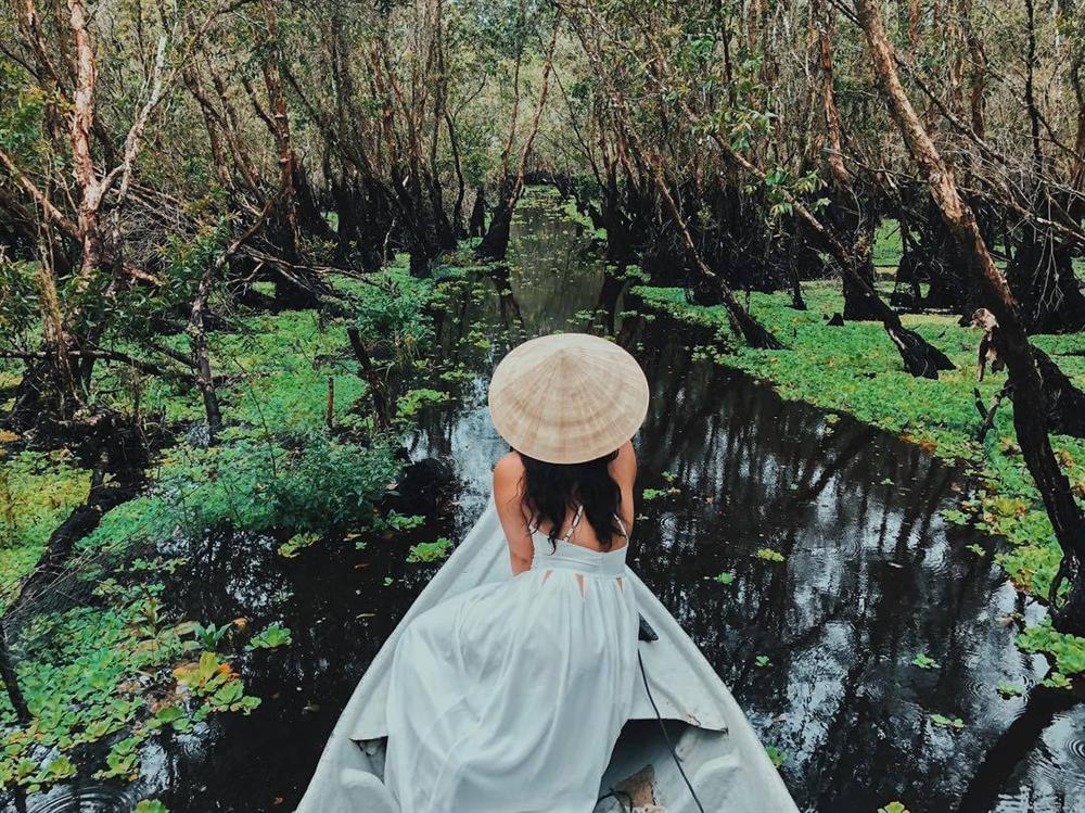 Chìm đắm trong màu xanh mê hoặc của rừng tràm Trà Sư mùa nước nổi-5