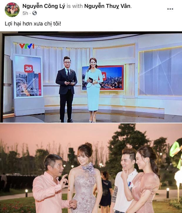 Á hậu Thụy Vân tái xuất trên truyền hình sau tin đồn đã nghỉ việc ở VTV-3
