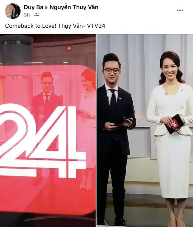 Á hậu Thụy Vân tái xuất trên truyền hình sau tin đồn đã nghỉ việc ở VTV-2