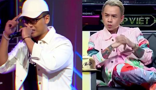 Suốt 3 vòng Rap Việt, biểu cảm của Binz khi xem GDucky biểu diễn rất đáng chú ý-1