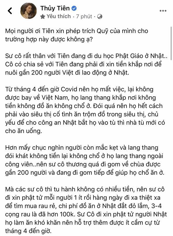 Tranh cãi Thủy Tiên xin trích quỹ ủng hộ miền Trung giúp người lao động Việt Nam ở Nhật-1