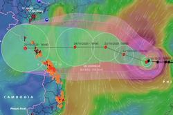 Hai kịch bản đổ bộ của bão số 8
