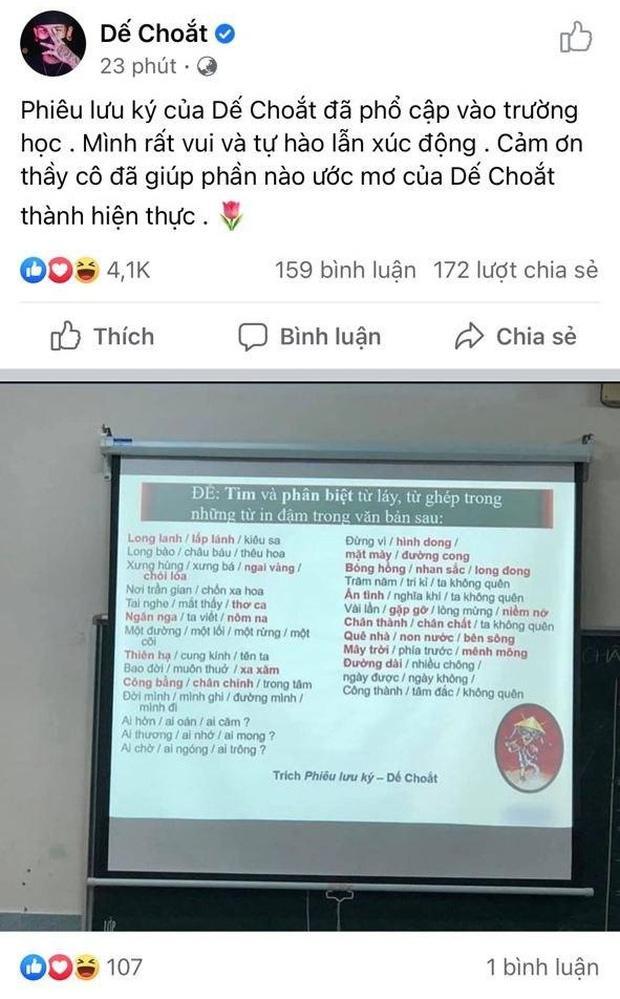 Xôn xao bản rap Phiêu Lưu Ký của Dế Choắt được đưa vào dạy học, chính chủ xúc động tự hào nhưng sau đó lại xoá đi?-3