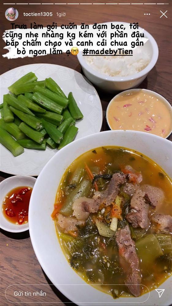 Học Tóc Tiên nấu cơm tối ngon, nhanh, gọn, lẹ khiến cả nhà ăn không dừng đũa-1
