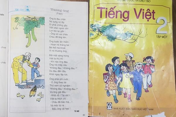 Tranh cãi bài thơ Thương ông sách tiếng Việt lớp 2 bị biến tấu nội dung-1