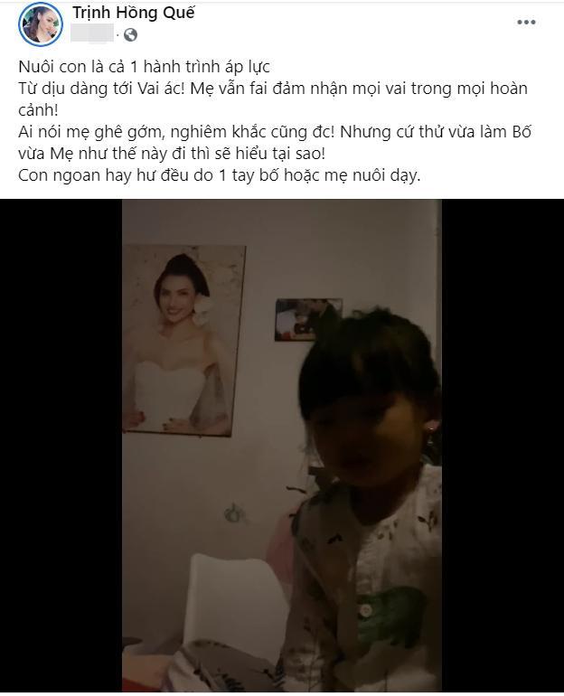 Hồng Quế đăng clip hỏi tội con gái, áp lực khi vừa làm bố vừa làm mẹ-2