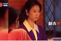 Lâm Tâm Như lộ gương mặt đau khổ trên phim trường sau khi cãi nhau với chồng